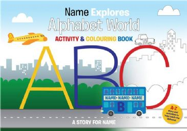 Alphabet World Colouring Book A4